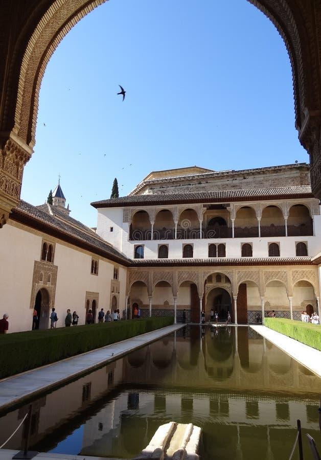 Palacio de Comares en Alhambra Granada, España imagenes de archivo