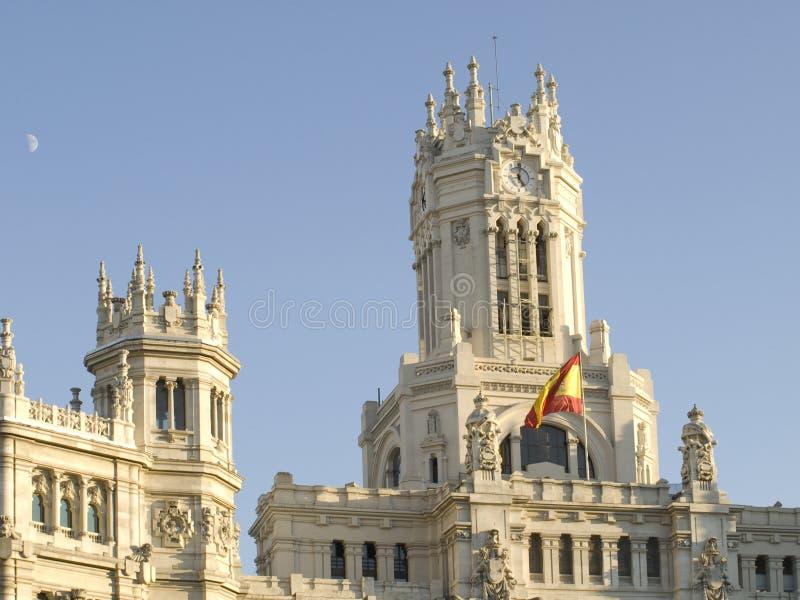 Palacio de comunicaciones, Madrid imagen de archivo