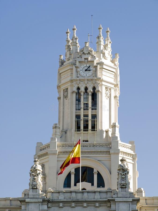 Palacio de comunicaciones, Madrid foto de archivo