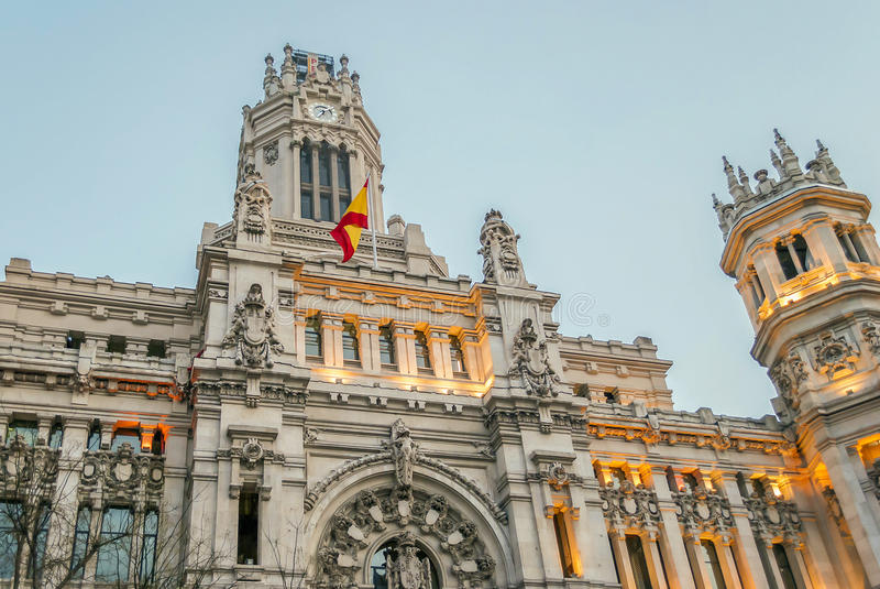 Palacio de Comunicaciones in Madrid, Spain royalty free stock photography