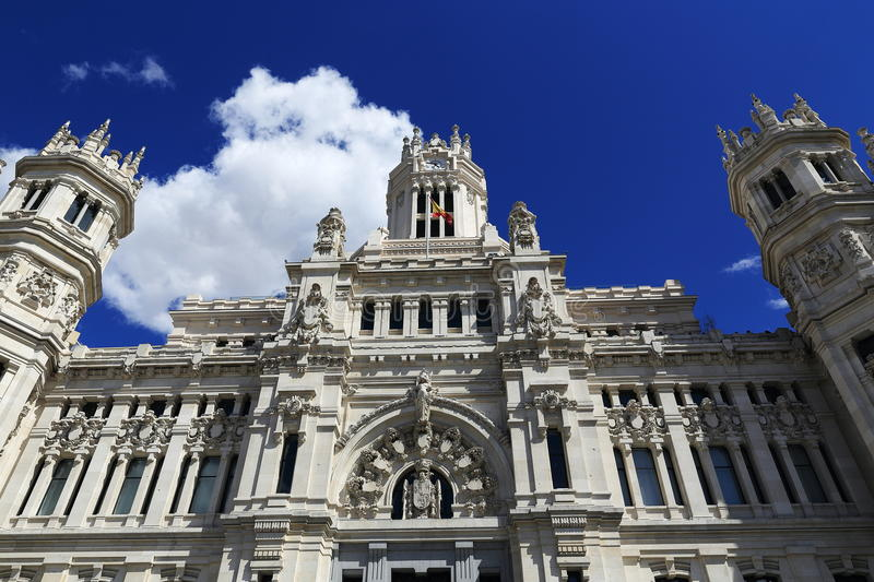 Palacio de comunicaciones, he old buildings in Madrid, Spain. A Picture of the old buildings in Madrid, Palacio de comunicaciones, Spain stock image