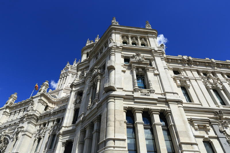 Palacio de comunicaciones, he old buildings in Madrid, Spain. A Picture of the old buildings in Madrid, Palacio de comunicaciones, Spain stock photography
