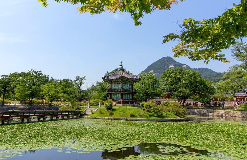 Palacio de Corea Gyeongbokgung - Seul foto de archivo