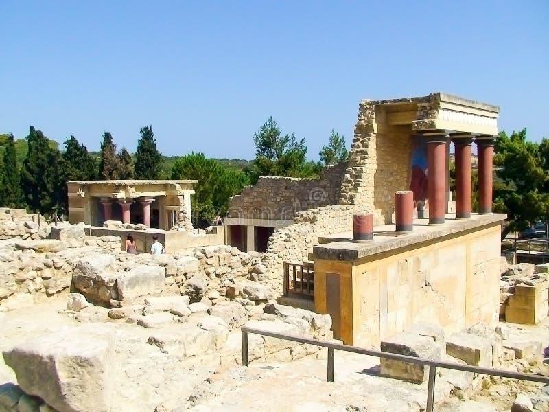 Palacio de Creta de Knossos fotos de archivo