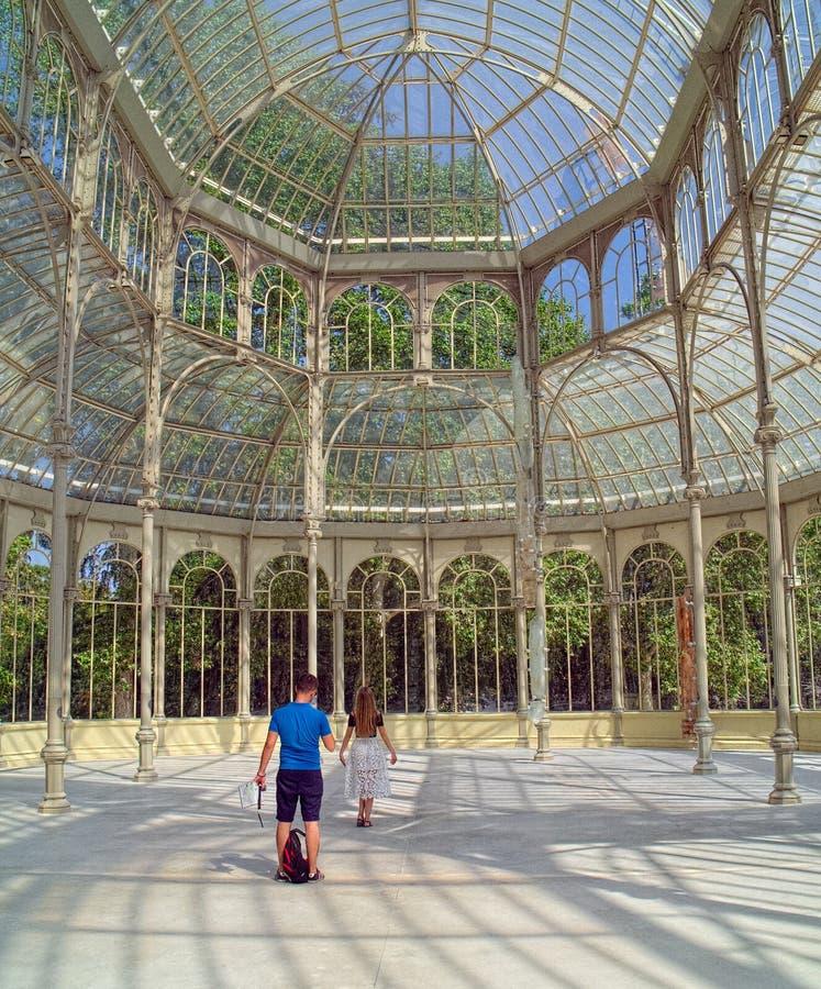 Palacio de Cristal в Мадриде, Испании стоковое изображение rf