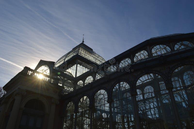 Palacio de cristal en Madrid foto de archivo