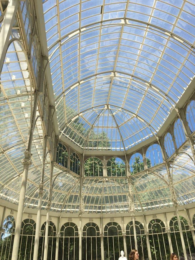 Palacio De cristal lizenzfreie stockbilder