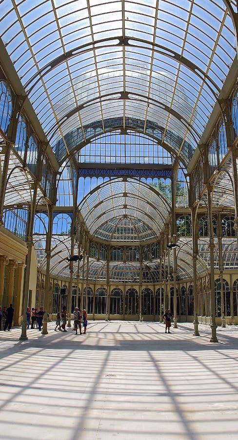 Palacio de Cristal, Madrid fotografía de archivo libre de regalías