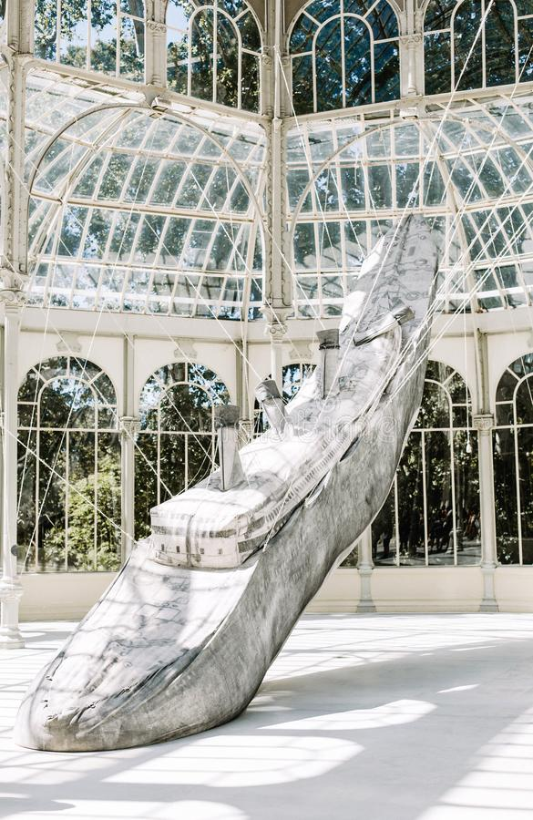 Palacio de Cristal ? Madrid, Espagne photos stock