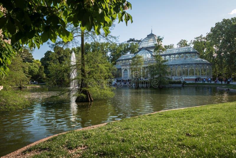 Palacio de Cristal, Parque del Buen Retiro, Madrid fotos de archivo
