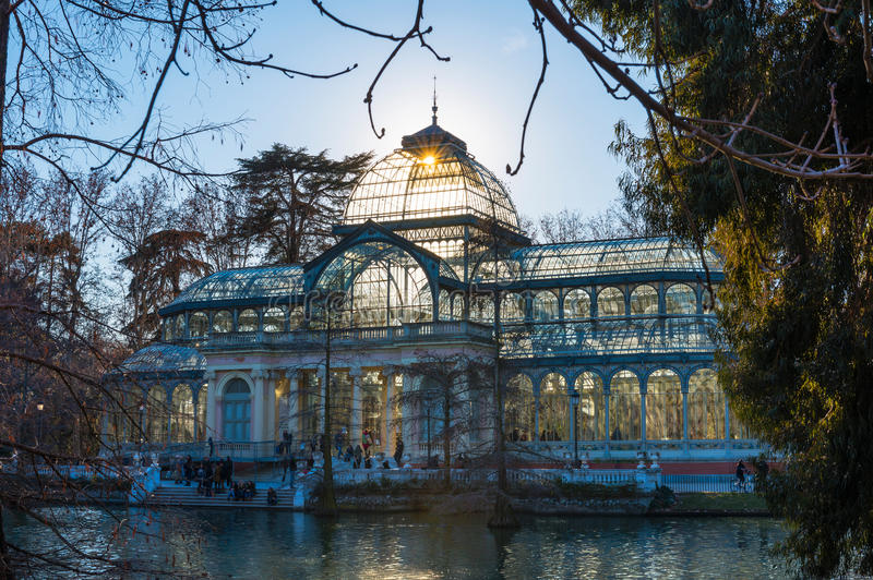 Palacio de Cristal, Parque del Buen Retiro, Madrid stock photo