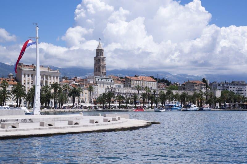 Palacio de Diocletian, vieja fractura de la ciudad histórica, Croacia, Europa fotografía de archivo