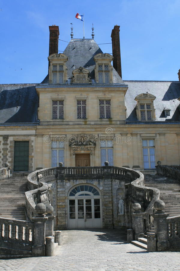 Palacio de Fontainebleau imágenes de archivo libres de regalías