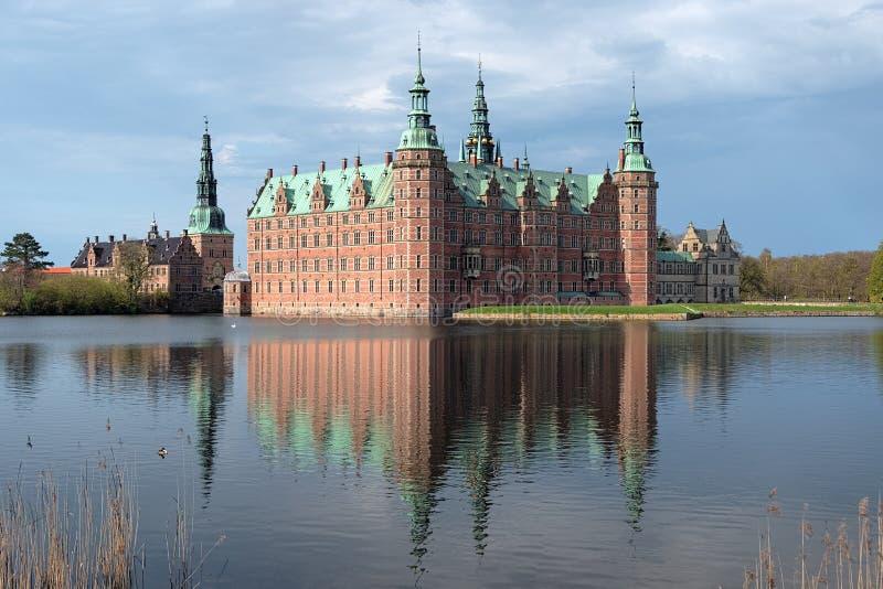 Palacio de Frederiksborg en Hilleroed, Dinamarca foto de archivo libre de regalías