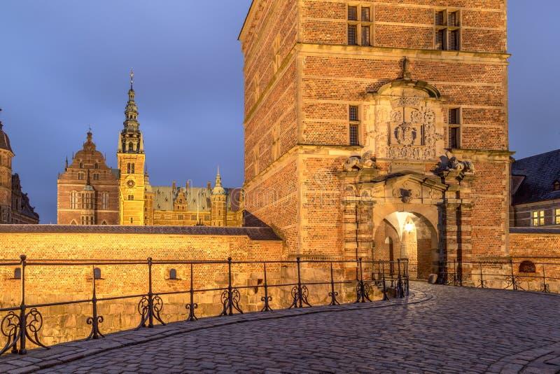 Palacio de Frederiksborg en Hilleroed, Dinamarca imagen de archivo