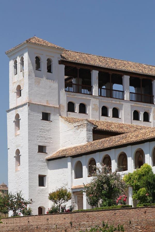 Palacio de Generalife, Alhambra in Granada stockfotos
