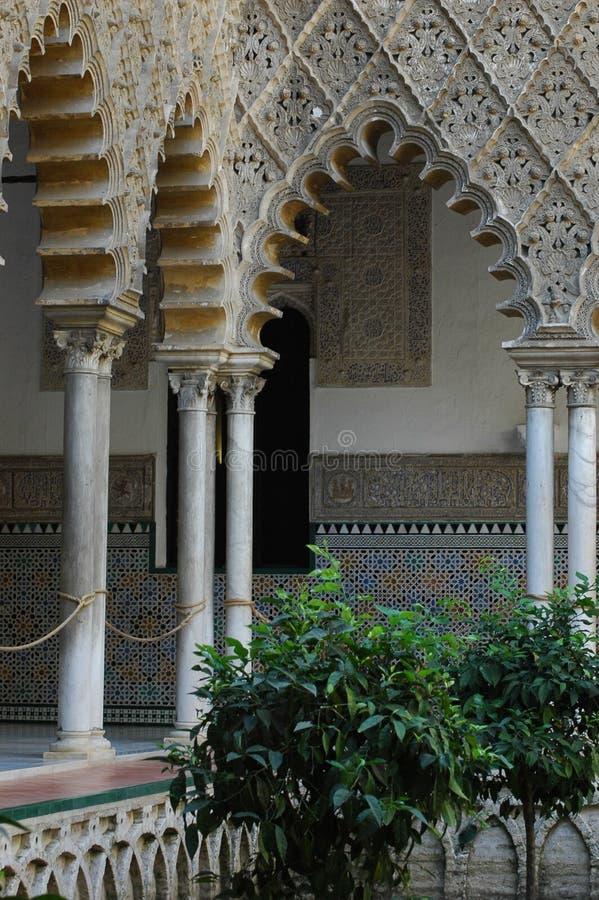 Palacio de Generalife in Granada stockbilder