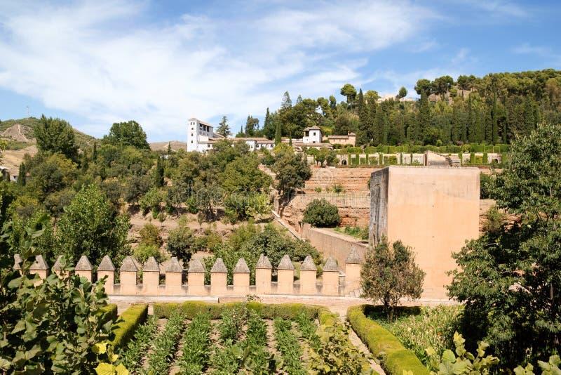 Palacio de Generalife in Granada, Spanien lizenzfreies stockfoto