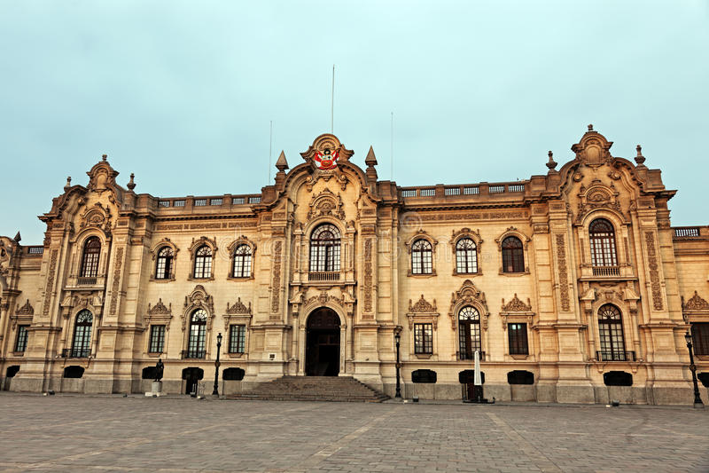 Palacio de Gobierno - maire de plaza, Lima image stock