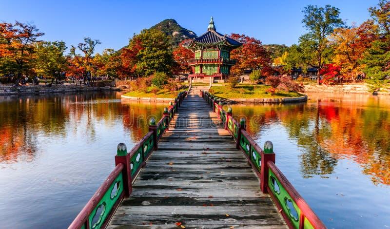 Palacio de Gyeongbokgung en Seul, Corea imagen de archivo