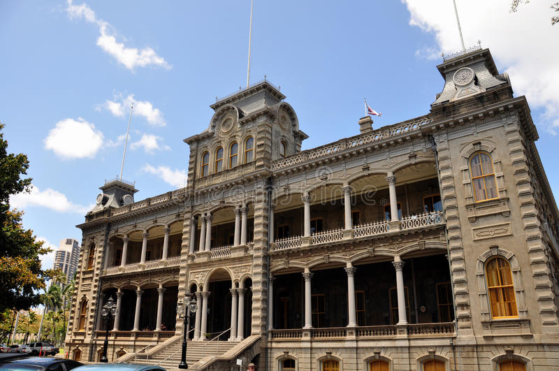 Palacio de Iolani, Honolulu, Hawaii imagen de archivo