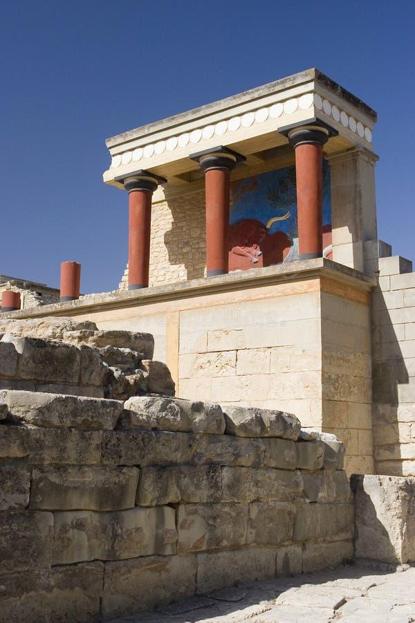 Palacio de Knossos foto de archivo