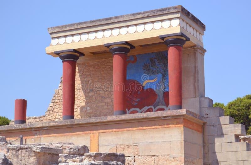 Palacio de Knossos imagen de archivo libre de regalías