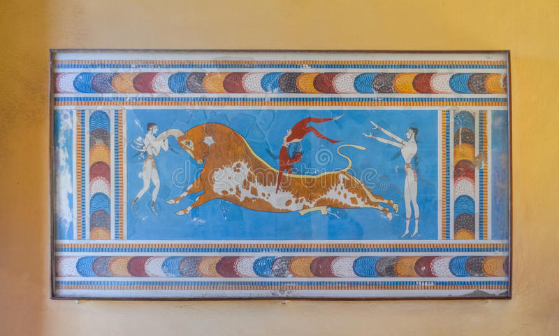 Palacio de Knossos, Creta, Grecia imagen de archivo
