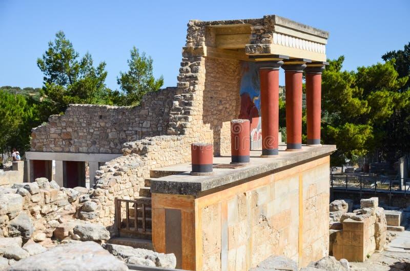 Palacio de Knossos, Creta, Grecia foto de archivo