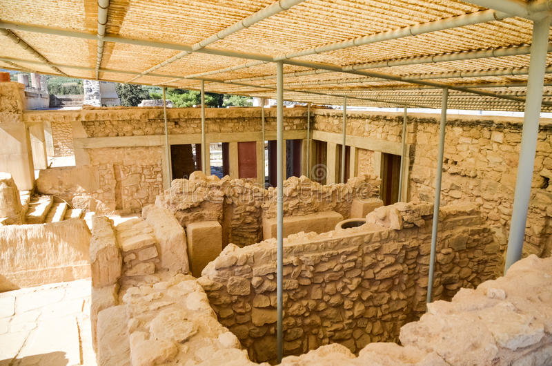 Palacio de Knossos, Creta, Grecia fotos de archivo libres de regalías
