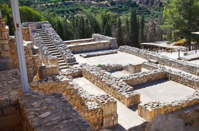 Palacio de Knossos, Creta, Grecia foto de archivo libre de regalías