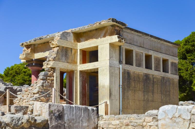 Palacio de Knossos, Creta, Grecia fotografía de archivo