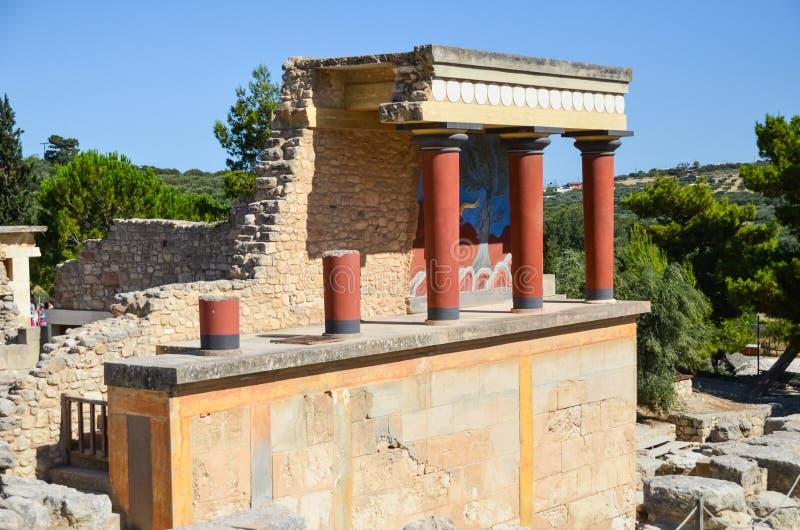 Palacio de Knossos, Creta, Grecia imágenes de archivo libres de regalías