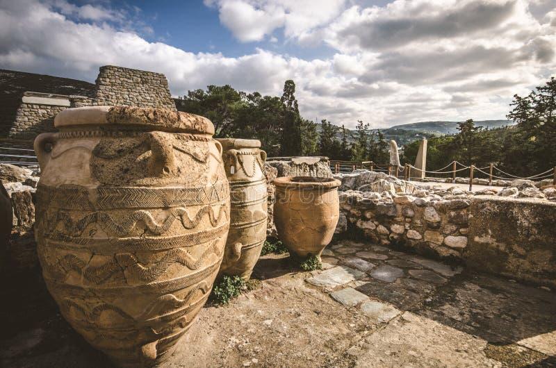 Palacio de Knossos, Crete imagen de archivo
