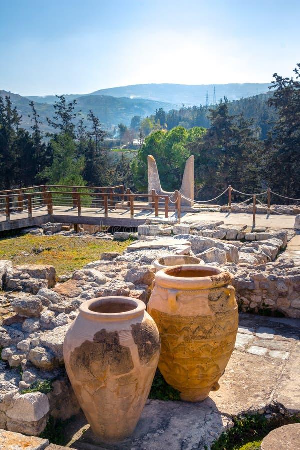 Palacio de Knossos, Heraklion, Creta, Grecia fotos de archivo