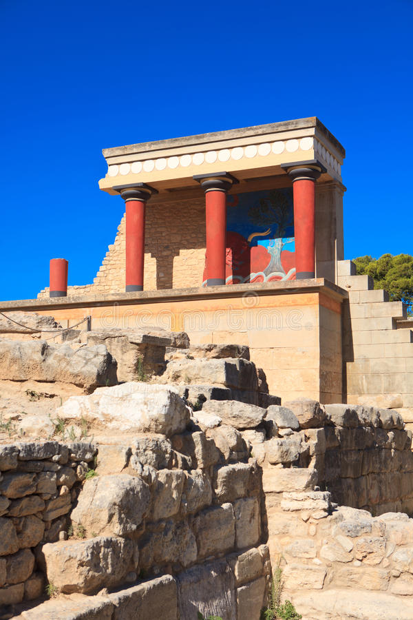 Palacio de Knossos Minoan fotografía de archivo