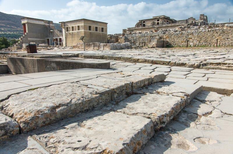 Palacio de Knossos Minoan, Creta, Grecia foto de archivo libre de regalías