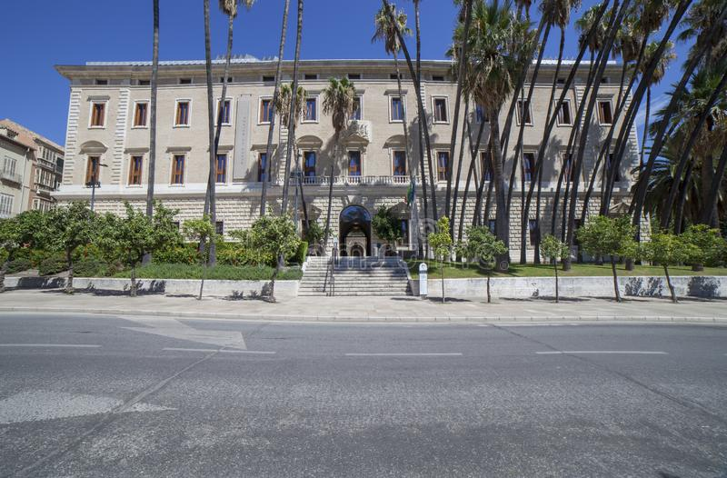Palacio de la Aduana, Màlaga, Spanien stockfotos