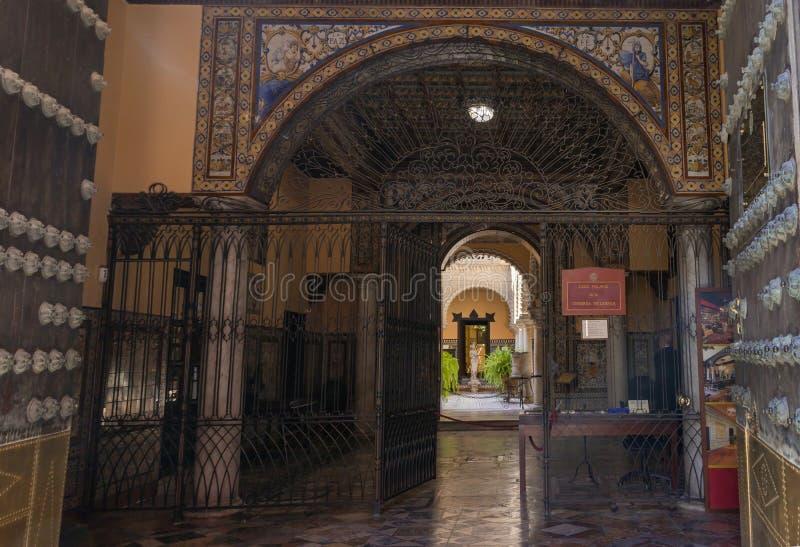 Palacio de la casa de la condesa de Lebrija imagenes de archivo