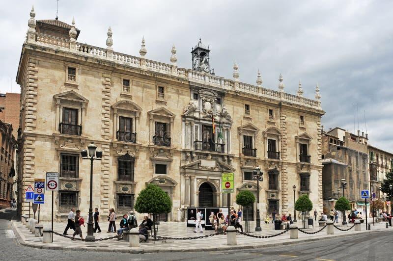 Palacio DE La Chancilleria in Granada, Spanje stock fotografie