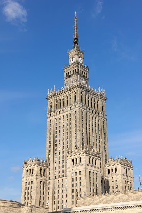 Palacio de la ciencia y de la cultura. Varsovia. Polonia imagen de archivo libre de regalías