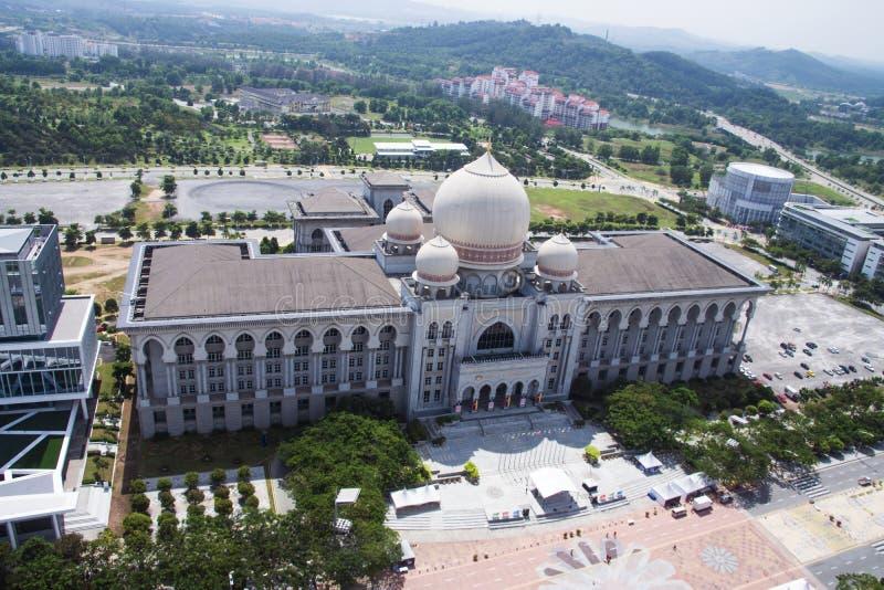 Palacio de la corte federal de la justicia de Malasia imágenes de archivo libres de regalías