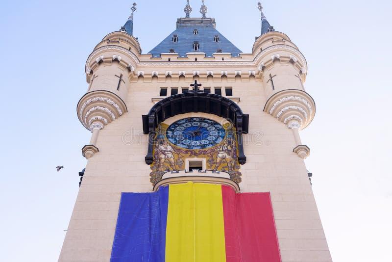 Palacio de la cultura en Iasi Rumania en invierno imagen de archivo