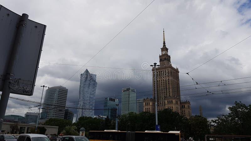 Palacio de la cultura en Varsovia fotografía de archivo libre de regalías