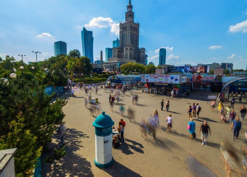 Palacio de la cultura Varsovia foto de archivo