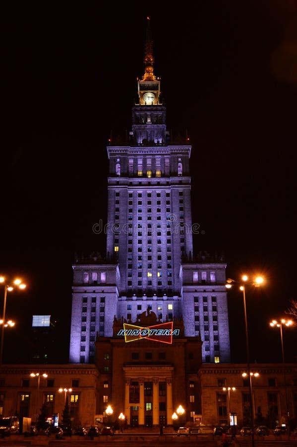 Palacio de la cultura y de la ciencia Varsovia imagen de archivo libre de regalías