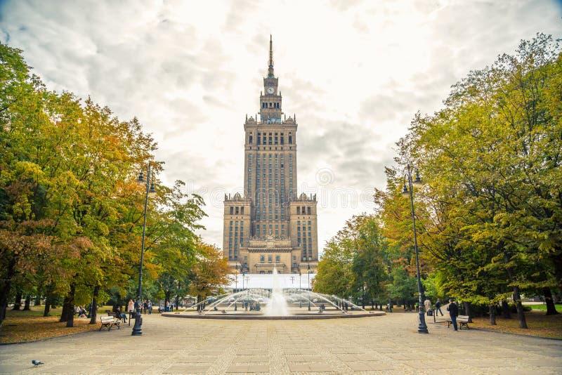 Palacio de la cultura y de la ciencia, Varsovia foto de archivo libre de regalías