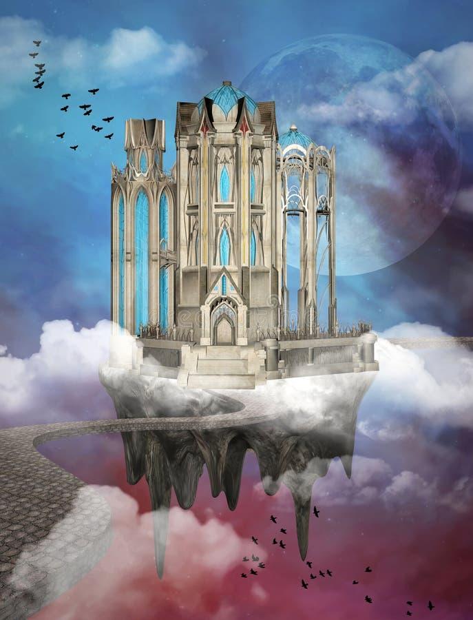 Palacio de la fantasía stock de ilustración