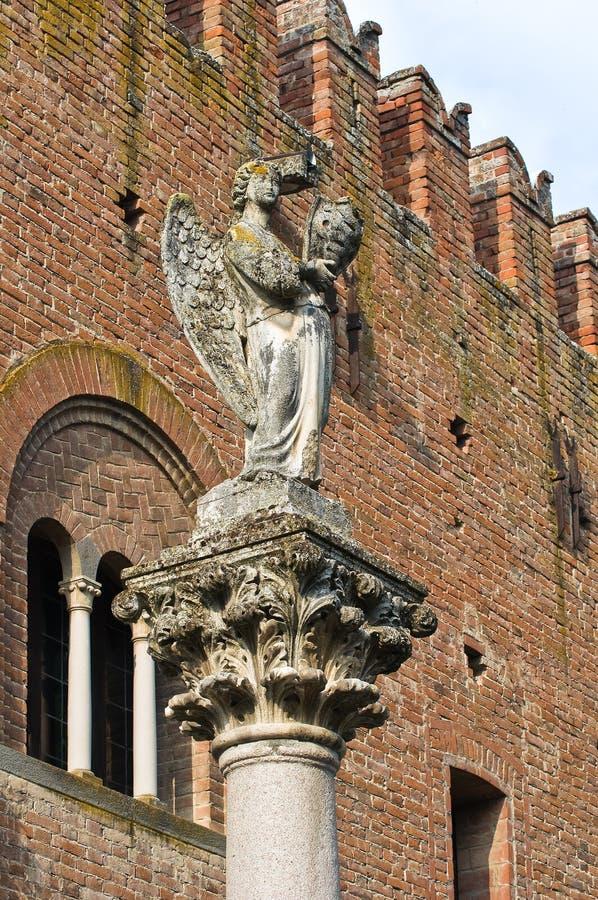 Palacio de la institución. Grazzano Visconti. Emilia-Romagna. Italia. imágenes de archivo libres de regalías