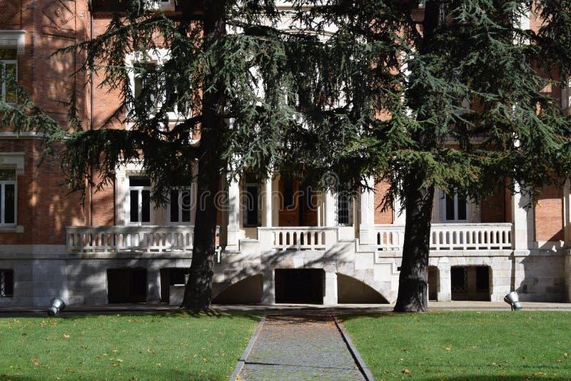 Palacio de la isla, Burgos fotografía de archivo